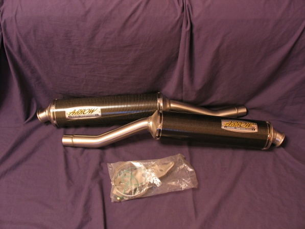 silencer set 900-851 arrow carbon high level