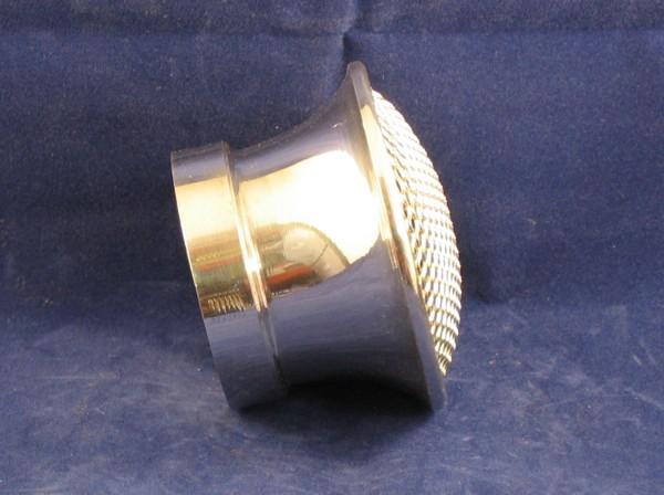 bellmouth, polished alloy, 30-36mm,..47mm long.
