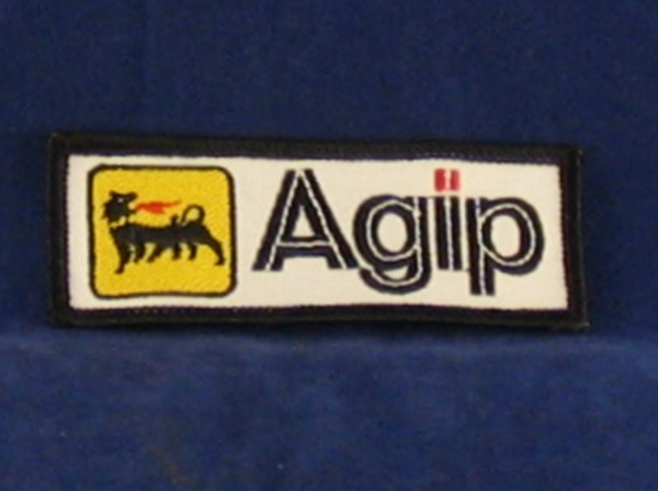 agip badge 90 x 35mm sew on