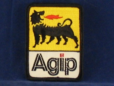 agip badge 55 x 75mm sew on