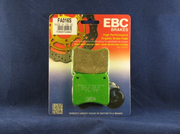 race brake pads front lockheed / scarab calipers ebc