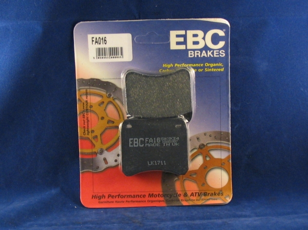 brake pads front lockheed / scarab calipers ebc