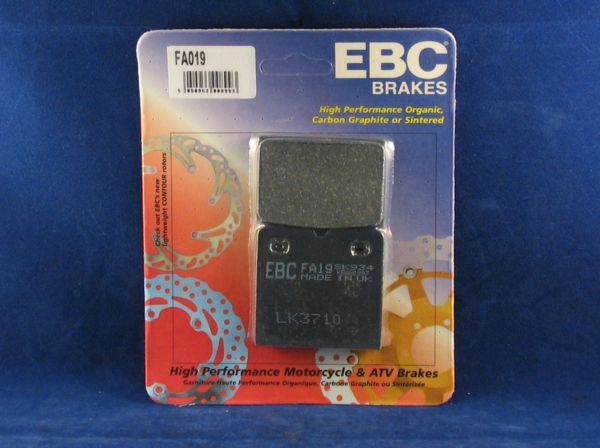 brake pads p08 'shaved' ebc. 7.5mm thick non sintered