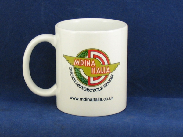 mug printed with mdina italia winged logo