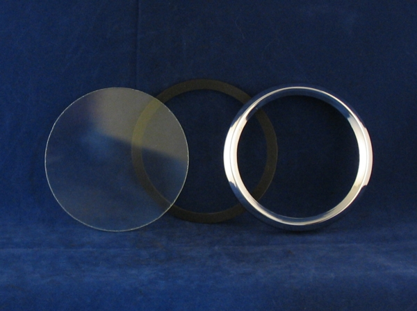 smiths 90mm instrument bezel kit..this kit includes a new chrome bezel, a new rubber seal and new glass