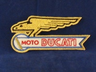 ducati eagle  badge 115 x 50mm sew/ iron on