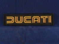 ducati 80's badge black & gold 130 x 30mm sew/ iron on
